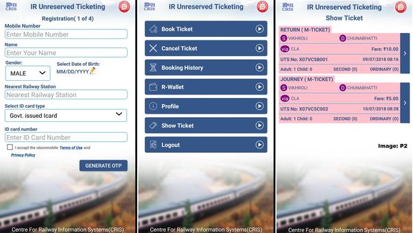 Hoe u een treinticket boekt via de UTS-app