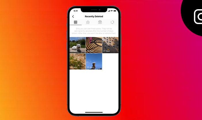 Instagram hoe u onlangs verwijderde berichten kunt herstellen