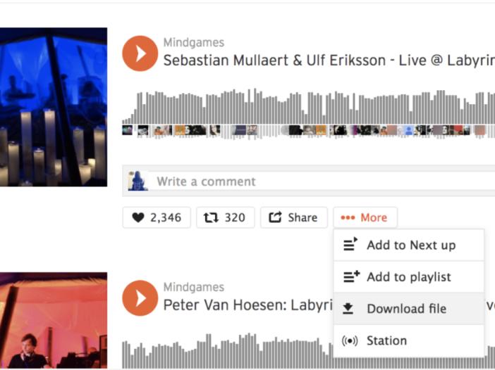 Muziek downloaden van SoundCloud