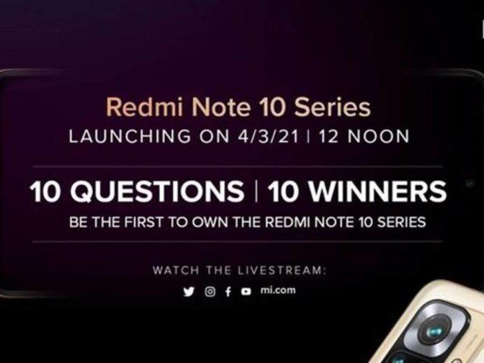 Redmi Note 10-serie wordt vandaag gelanceerd: live stream bekijken